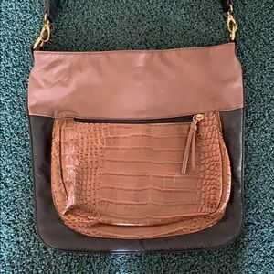 Brown and Black Leather Purse